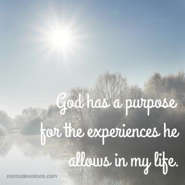 God has a purpose