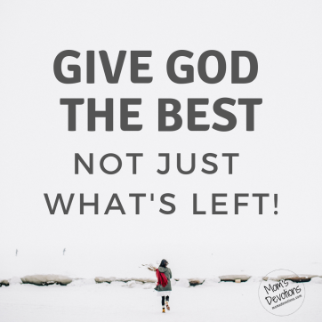 give god best