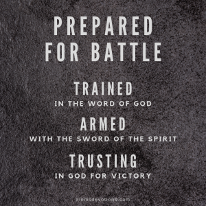 prepared for battle