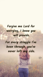 Forgive for worrying prayer PINTEREST