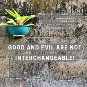 good and evil not interchangeable