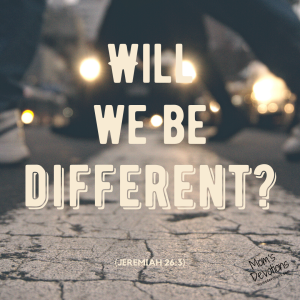 Will we be different_