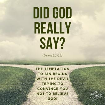 did god really say