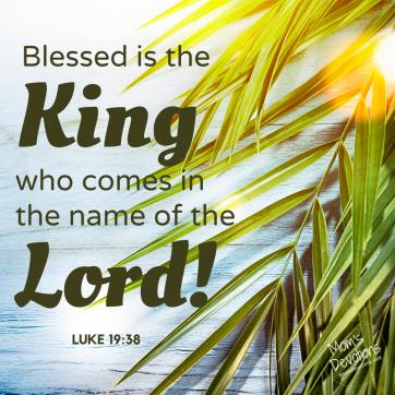 Luke 19.38 Palm Sunday