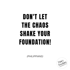 Don't let the chaos shake your foundation!